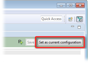 Setting the edited configuration as the current one