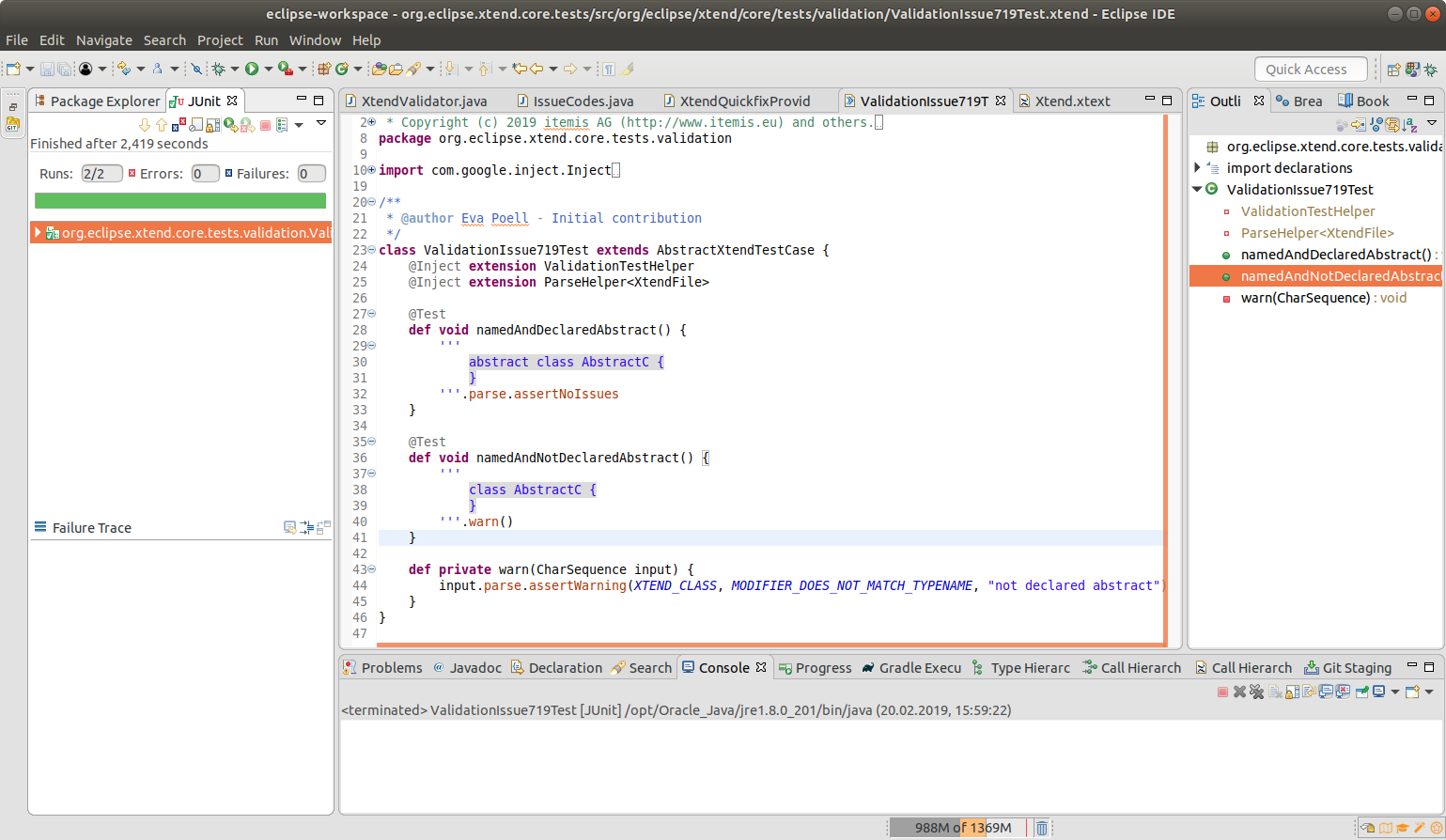 Successfully run first JUnit tests