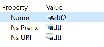 Set prefix and namespace URI to adtf