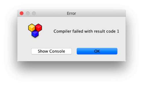 "Debugging xtext grammars: Prompt showing error message ""Compiler failed with result code 1"""