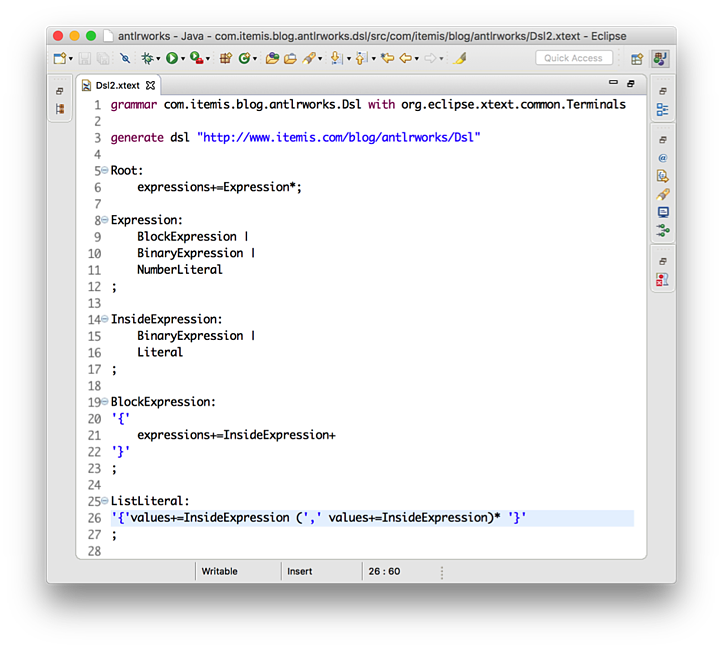 Debugging Xtext grammars – what to do when your language is