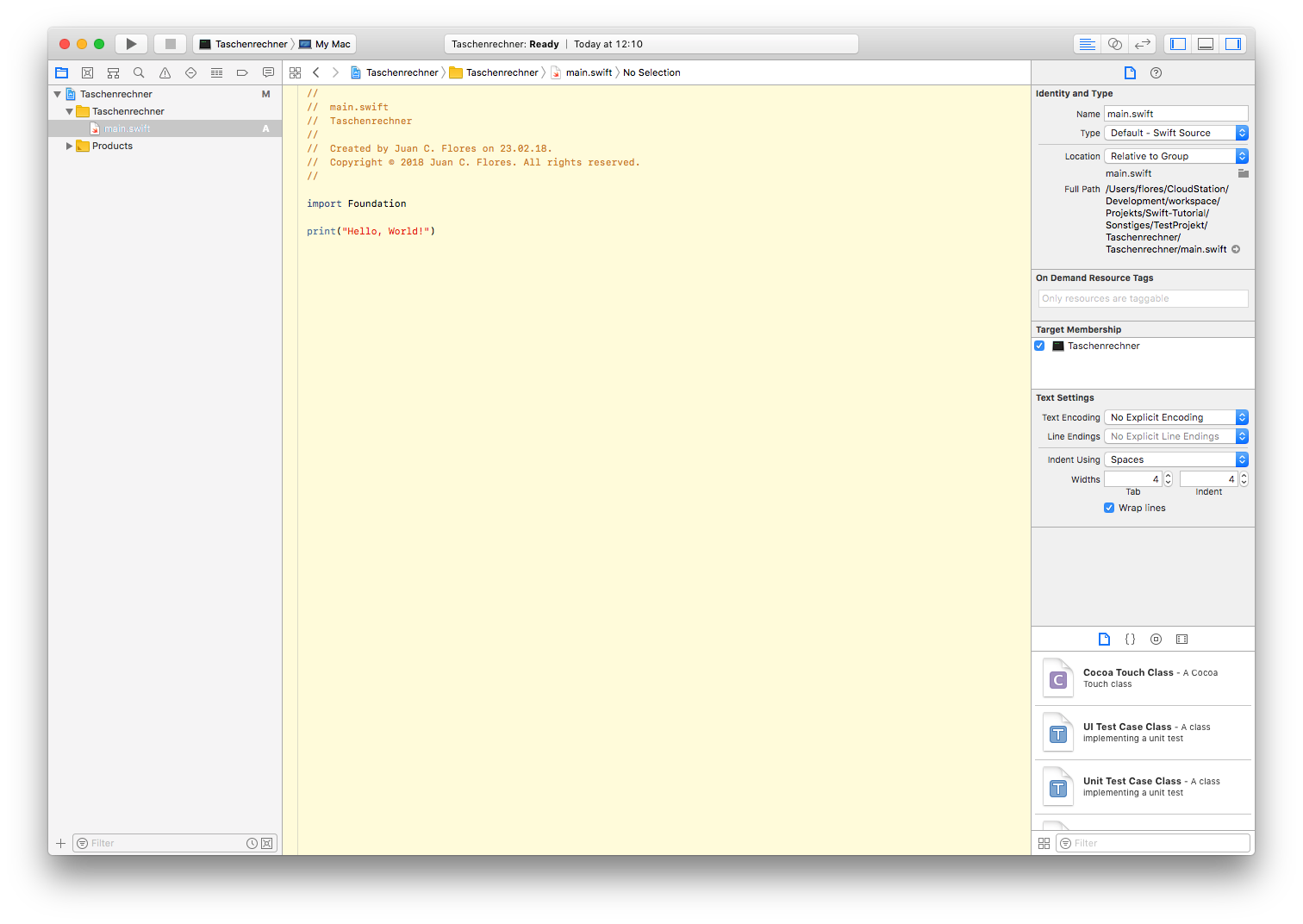 7-XCode-Datei-öffnen