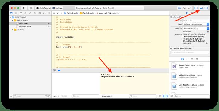 Swift-Tutorial Teil 1: Ich möchte Swift lernen und Apps