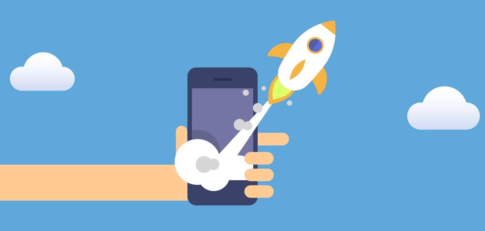 rakete-smarthone-app-orange
