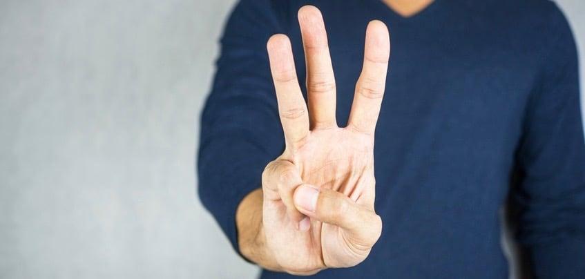Drei-Finger-Hand