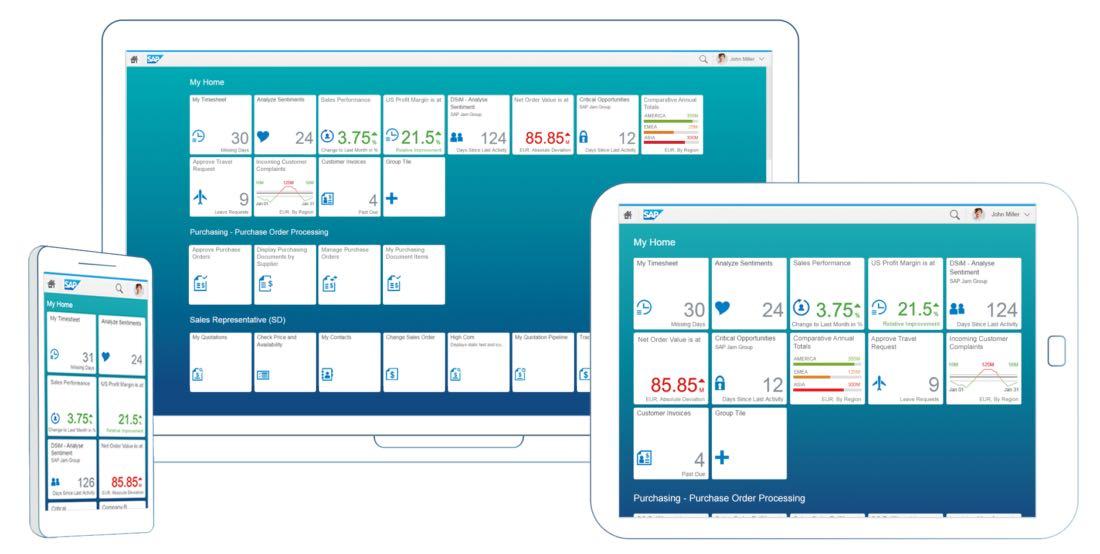 Fiori Design Guidelines von SAP in der Version 1.0 – So sieht das Launchpad nach SAP Fiori 1.0 aus