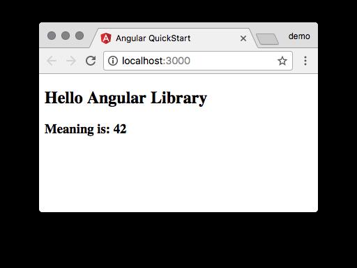 angular-library-quickstart-setup