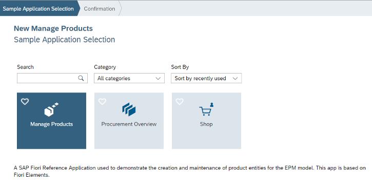 SAPUI5 Web IDE – Neues UI5 Beispiel-Applikation