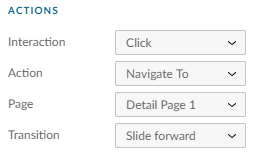 Aktionen im Rahmen eines Fiori Prototypen, erstellt mit SAP Build