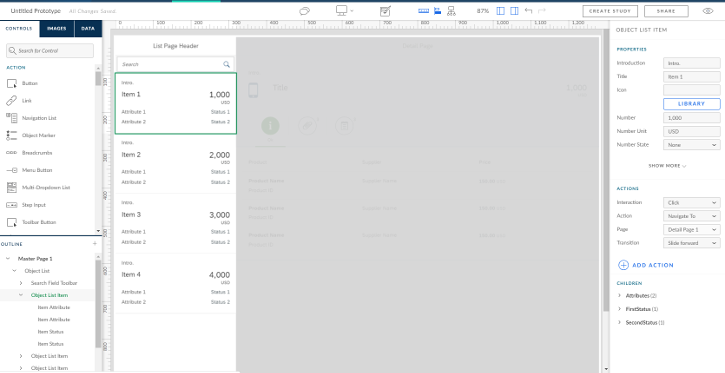 Fiori Prototyp mit SAP Build – Die Masterpage im Bearbeitungsmodus
