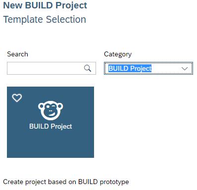Auswahl des Build Projektes zum Import in die SAP Web IDE