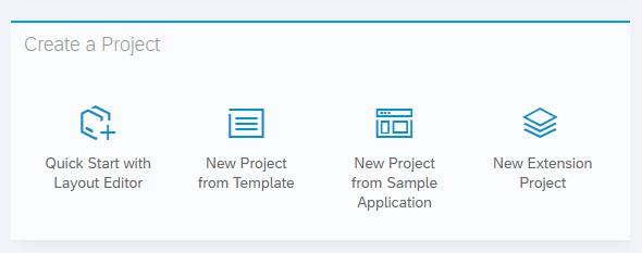 Anlage eines neuen Projektes in der Web IDE von SAP