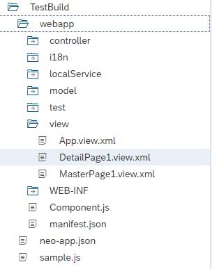 Workspace der SAP Web IDE