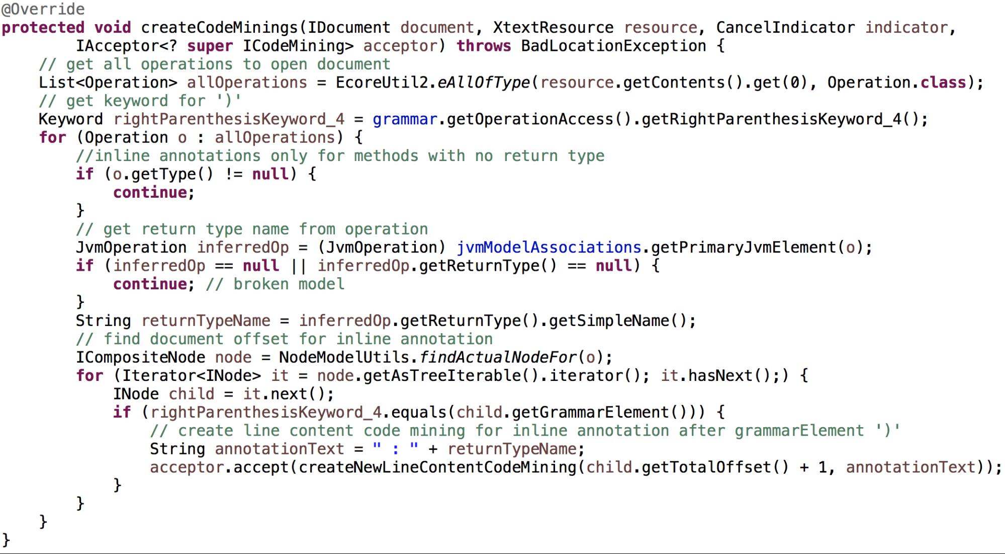 Code-Mining-Override