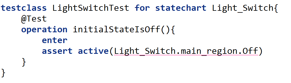 testclass with test for an initial state