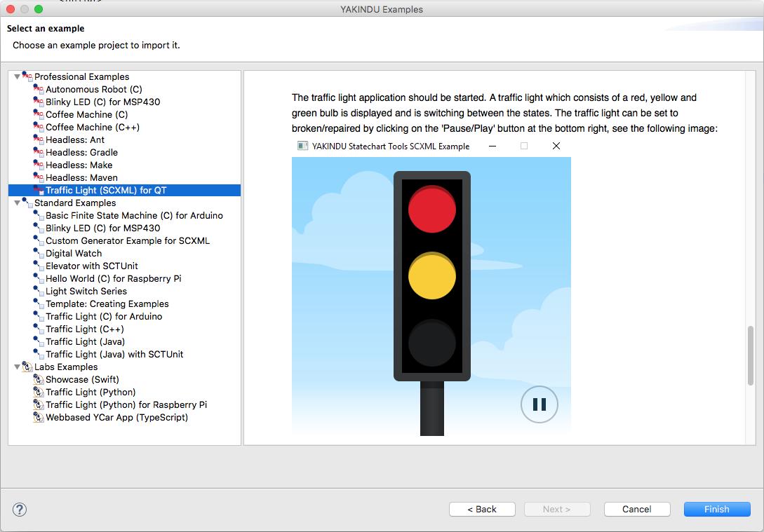 SCXML with YAKINDU Statechart Tools - Trafficlight example
