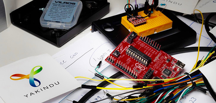 MSP430 Microcontroller from Texas Instruments, programmed with state machines with YAKINDU Statechart Tools
