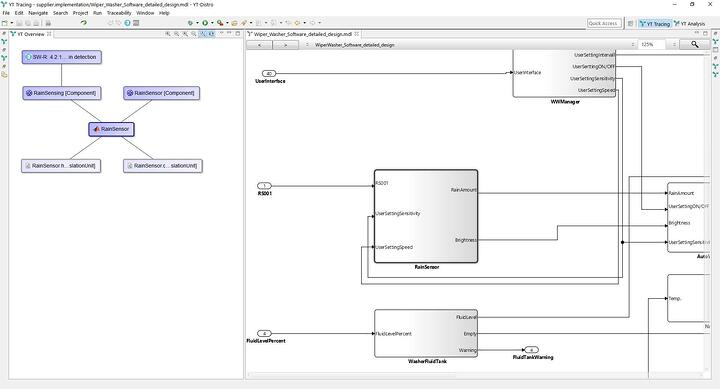 Screenshot of YAKINDU Traceability - YAKINDU Model Viewer integration