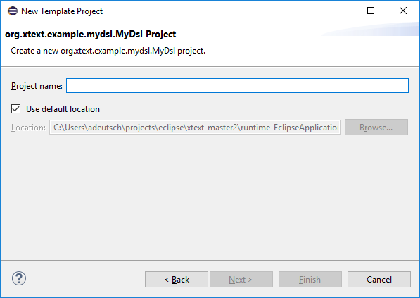 Generating a new project wizard with Xtext 2 14