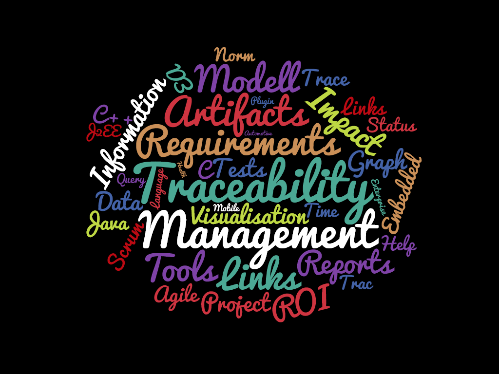 Tag cloud: Traceability management
