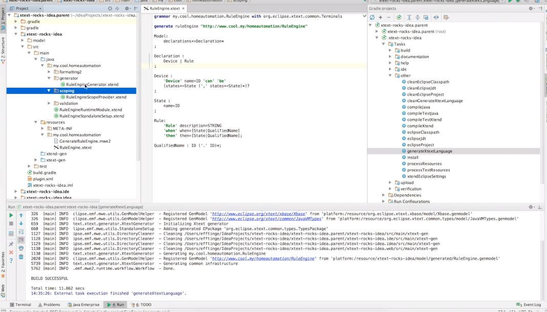 Xtext 2.9 is out – Now also for IntelliJ & Web