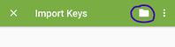 OpenKeychain setup – select key file from folder
