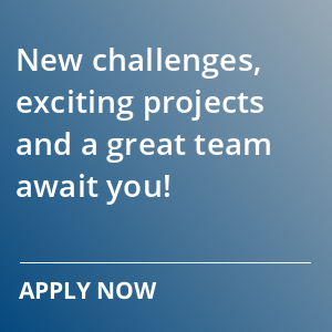 New challenges, exciting projects and a great team await you! Apply now